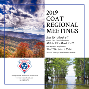 2019 COAT Regional Meetings save the date information
